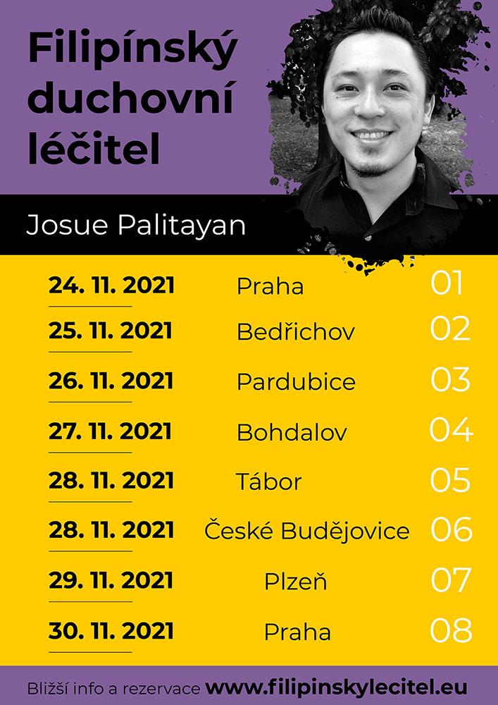 Josue Palitayan - Filipínský duchovní léčitel v ČR - Program říjen 2021